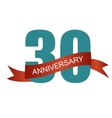 Thirty 30 Years Anniversary Label Sign for your vector image vector image