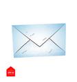 top view of closed envelope vector image