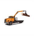 truck crane tree vector image vector image
