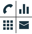 user icons set collection of letter application vector image vector image