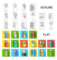 variety of terminals flat icons in set collection vector image vector image