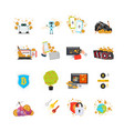 various online processes with crypto currency vector image