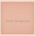 vintage dotted background vector image vector image
