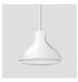 white hanging lamp isolated transparent background vector image vector image