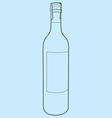 wine bottle outline vector image vector image