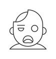 zombie halloween character icon editable stroke vector image
