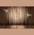 photo studio in old wooden room vector image