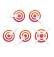 Targets and arrows vector image