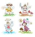 Little fairy children drawings vector image