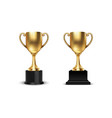 3d blank golden champion winner cup icon vector image
