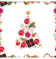abstract christmas tree different holiday vector image vector image