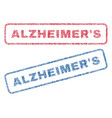 alzheimer s textile stamps vector image vector image