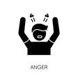anger black glyph icon