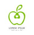 apple logo identity vector image