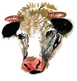 artistic cow design vector image vector image