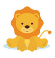 baby lion vector image