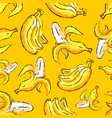 banana tropics seamless pattern hand-drawn vector image