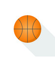 basketball icon isolated on background with long vector image