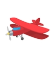 Biplane icon cartoon style vector image vector image