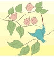 Birds on the branch EPS 8 vector image