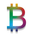bitcoin sign colorful icon with bright vector image