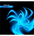 blue abstract glowing background vector image vector image