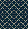 blue moroccan motif tile pattern vector image vector image