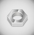 bolt nut vector image vector image