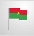 burkina faso waving flag design background vector image vector image