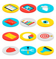 business analytics isometric icons vector image vector image