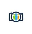 camera people logo icon design vector image