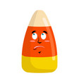 candy corns surprised emoji sweet emotion vector image vector image