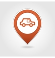 Car map pin icon vector image