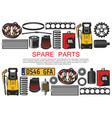 car spare parts belts oil and bearings vector image vector image