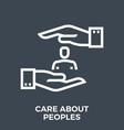 care about peoples vector image