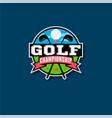 championship golf emblem golf club logo vector image vector image
