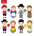 Children of the world Denmark Latvia Sweden vector image