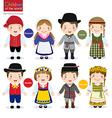 children world denmark latvia sweden vector image vector image