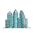 city landscape pattern vector image vector image