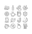 coffee tea cup and teacup icons candy wine vector image