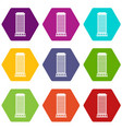 column icon set color hexahedron vector image vector image