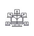 computer network line icon concept computer vector image