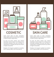 cosmetic and skin care poster vector image vector image