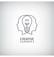 creative mind logo group vector image vector image
