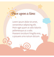cute pastel warm happy fairy tale background vector image vector image