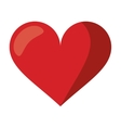 cute red heart love romantic symbol vector image