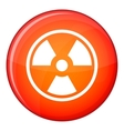 Danger nuclear icon flat style vector image vector image