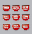 discount buttons and banners vector image