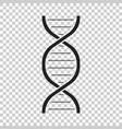 dna icon medecine molecule flat vector image vector image