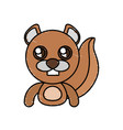 draw beaver animal comic vector image vector image